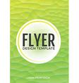 Pastel modern green polygonal brochure flyer vector image