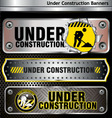 under construction banners vector image