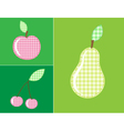 applique fruits and berries vector image vector image