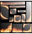 Banners with Realistic fire flames EPS 10 vector image