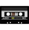 Vintage audio cassette tape vector image