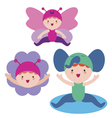 Cute babies characters vector image