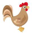 cute brown cock vector image