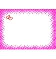 Heart frame for foto halftone vector image