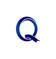 letter q swoosh logo vector image