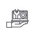 maintenance computer support concept thin vector image