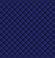 Shiny fabric rippled texture blue color silk vector image