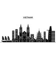 vietnam architecture city skyline travel vector image