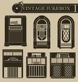 Vintage jukebox I vector image