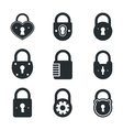Lock icons signs or symbol padlock icon vector image