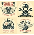 Motorcycle Detailed Emblem Set vector image