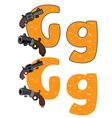 letter G gun vector image vector image