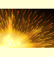 yellow star lighted exploding background vector image vector image