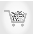 Note a cart vector image vector image