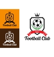 Football or soccer crests vector image vector image