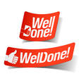 well done label vector image vector image