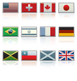 international flag icons vector image
