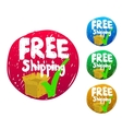 Free shipping sketch icon vector image