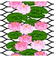 Natural seamless pattern with lotus flowers and vector image vector image