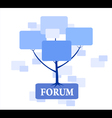 Forum Tree in blue color vector image