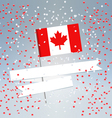 Canadian flag and white ribbon vector image