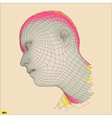 Head 3d Grid Geometric Face Design vector image vector image
