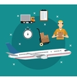 airplane transport items international delivery vector image