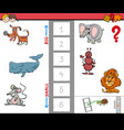 biggest animal cartoon game for children vector image
