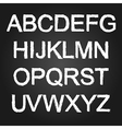 black and white font vector image