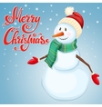 Cheerful Christmas snowman vector image