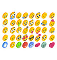 emoji set emoticon reactions social button vector image