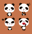 Emotional Panda vector image
