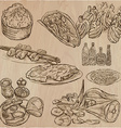 Food around the World - set Hand drawn vector image