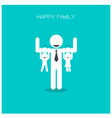 happy family having fun vector image