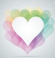 hearts note vector image