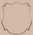 Heraldic shield border shape label hand draw - vector image