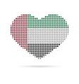 I love UAE Creative heart flag vector image