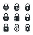 Lock icons signs or symbol padlock icon vector image