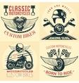 Motorcycle Detailed Emblem Set vector image