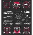 Set Surf Badges Sign and Logos vector image