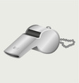 Sports whistle with pea vector image