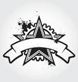 stenci black star vector image
