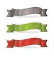 Color ribbon set vector image