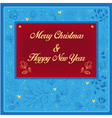 New Year and Christmas floral card vector image