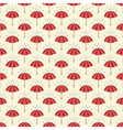 Seamless pattern with umbrellas and rain drops vector image