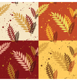 Autumn leaves patterns vector image vector image