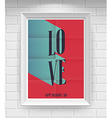 valentine folded vector image