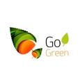 Go green abstract nature logo vector image vector image