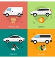Car For Rent And Sale vector image