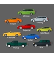 Cars types vector image